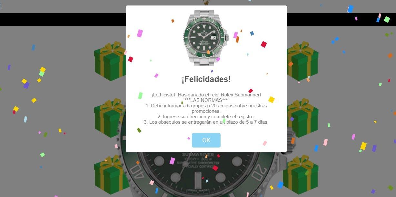 No, nadie va a regalarte un Rolex: así es la última estafa viral en WhatsApp